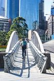 Voetbrug in Melbourne, Australië stock afbeeldingen