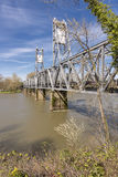 Voetbrug in Salem Oregon royalty-vrije stock fotografie