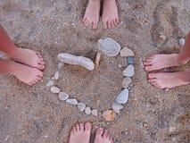 Voeten, de zomer, liefde Stock Fotografie