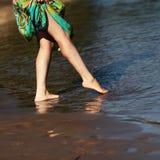 Voeten in het water Royalty-vrije Stock Foto