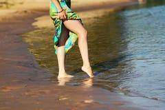 Voeten in het water Royalty-vrije Stock Afbeelding