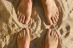 Voeten in het zand Royalty-vrije Stock Afbeelding