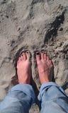 Voeten in het zand Royalty-vrije Stock Fotografie