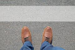 Voeten op de straat Stock Foto's