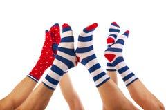 Voeten in sokken Stock Afbeelding