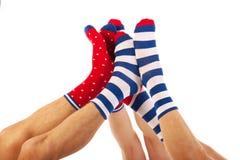 Voeten in sokken Stock Afbeeldingen