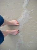Voeten in Zand Stock Afbeelding