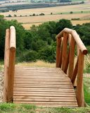 Voetgangersbrug aan Yorkshire Royalty-vrije Stock Afbeelding