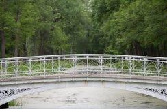 Voetgangersbrug in landschapspark royalty-vrije stock foto's