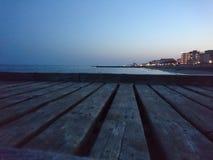 Voetgangersbrug op Lido Di Jesolo Beach Stock Afbeelding