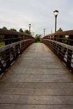 Voetgangersbrug over een rivier Royalty-vrije Stock Foto