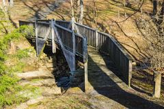 Voetgangersbrug in Smith Mountain Dam Picnic Area stock afbeelding