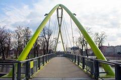 Voetgangersbrug in Wroclaw Royalty-vrije Stock Afbeeldingen
