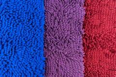 Voetschraper 3 rode kleur, blauw, Purper Royalty-vrije Stock Foto