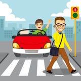 Voetsmartphone-Ongeval vector illustratie