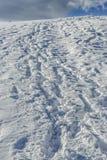 Voetstappen in de sneeuw Royalty-vrije Stock Afbeelding