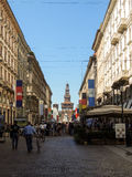 Voetstreek in Milaan royalty-vrije stock afbeeldingen