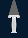 voetstuk Licht in Duisternis verlichting Vector illustratie Royalty-vrije Stock Afbeeldingen