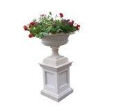 Voetstuk met urn en installaties Royalty-vrije Stock Fotografie