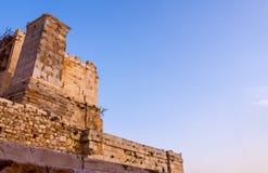 Voetstuk van Agrippa in Propylaea-ingang aan Akropolisgebied in Athene, Griekenland stock foto's