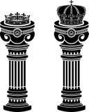 Voetstukken van kronen vector illustratie