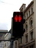 Voetverkeerslichten in Wenen Stock Foto