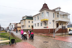 Voetweg chumbarova-Luchinskogo in Arkhangelsk, Rusland Stock Afbeeldingen