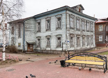 Voetweg chumbarova-Luchinskogo in Arkhangelsk, Rusland Stock Foto