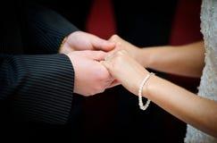 Voeux d'un échange de couples Photographie stock libre de droits