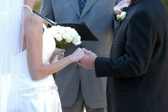 Voeux de mariage Image libre de droits