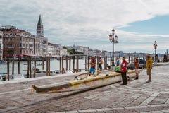 Vogalonga, Венеция Италия Стоковые Фото