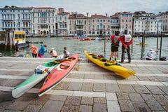 Vogalonga, Венеция Италия Стоковое Изображение