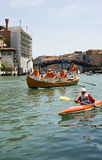Vogalonga race, Grand Canal, Venice Stock Photo