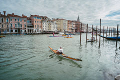 Vogalonga, Venice Italy. Royalty Free Stock Photos