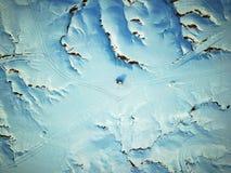 Vogel-Ansicht der Urho-Geist-Stadt im Winter Stockfotos