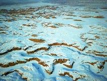 Vogel-Ansicht der Urho-Geist-Stadt im Winter Stockbilder