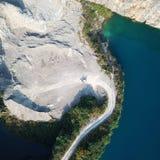 Vogel-Ansicht des natürlichen Bergwerk-Parks, wie ein Herz Lizenzfreie Stockbilder