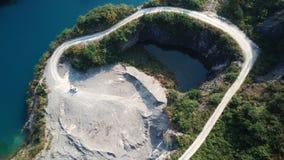 Vogel-Ansicht des natürlichen Bergwerk-Parks, wie ein Herz Lizenzfreies Stockbild