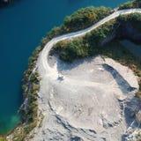 Vogel-Ansicht des natürlichen Bergwerk-Parks, wie ein Herz Lizenzfreie Stockfotos