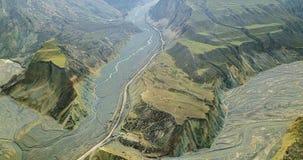 Vogel-Ansicht von buntem Grand Canyon Stockfotos
