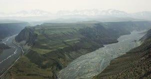 Vogel-Ansicht von buntem Grand Canyon Lizenzfreie Stockfotos