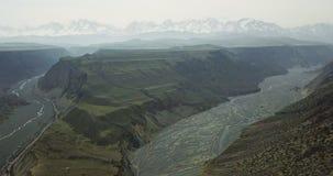 Vogel-Ansicht von buntem Grand Canyon Stockfotografie