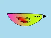 Vogel auf einem blauen Hintergrund Stockbild