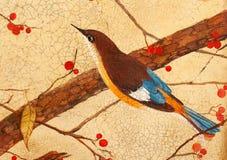 Vogel auf Zweigen Stockbild