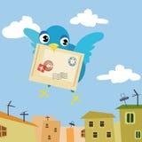 Vogel-brievenbesteller Stock Afbeeldingen