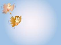Vogel in de hemel Stock Afbeeldingen