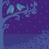 Vogel-in-de-nacht vector illustratie