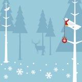 Vogel der frohen Weihnachten lizenzfreie abbildung