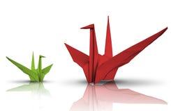 Vogel des roten und Grünbuches Lizenzfreies Stockbild