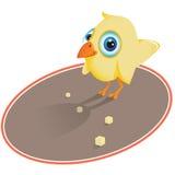 Vogel die crumbs eet royalty-vrije illustratie